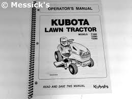 kubota t series manuals