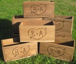 Wooden Centerpiece Boxes by 4 Large Rustic Wedding Wooden Barn Wood Box Centerpiece