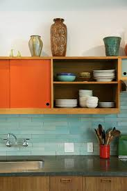 Colorful Kitchen Backsplashes Best 25 Orange Kitchen Ideas On Pinterest Orange Kitchen Walls