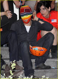 halloween party in orlando orlando bloom is a masked motorcyclist photo 1520831 orlando