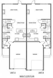 Duplex Plans With Garage Floor Plans Duplex House Designs Craftsman Donovan Modern Kerala