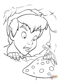 peter pan tinkerbell coloring pages coloring