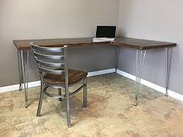 industrial hairpin leg desk hairpin leg desk pinterest legs and desks for with plan 17