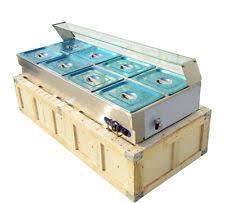 4 pans food warmer counter top bain marie buffet steam table 110v