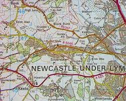 map of newcastle lyme domesday reloaded silverdale a mining