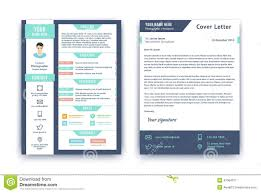 resume cover letter template download resume and cover letter template stock vector image 47084071 flat resume style template