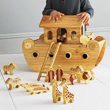 natural wood noah u0027s ark with animals toy animal and woods