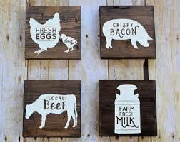 farm kitchen decor etsy