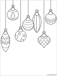 ornaments coloring page free coloring pages