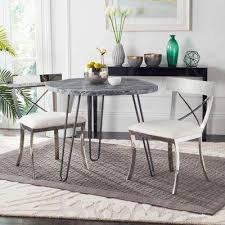 Silver Dining Table And Chairs Silver Dining Chairs Kitchen U0026 Dining Room Furniture The