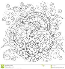 doodle flowers and mandalas stock vector image 65676373