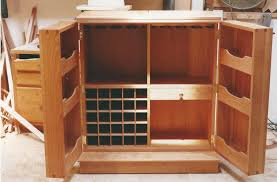Folding Home Bar Cabinet Cherry Wood Made Of Bar Cabinet Design With Four Storage And Glass
