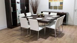 white dining room table seats 8 dining table white and dark wood dining table table ideas uk