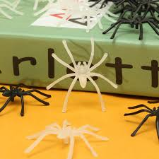 20pcs halloween spider prop insects joking toys party decor bugs