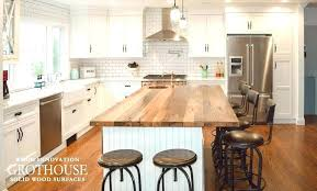reclaimed wood kitchen islands wood top countertops reclaimed wood counter top antique hickory wood