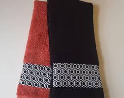 coral towel etsy