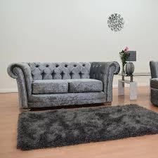 lavender velvet studded 2 seater chesterfield sofa f d brands