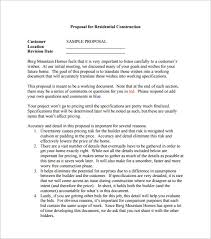 construction proposal template u2013 10 free sample example format