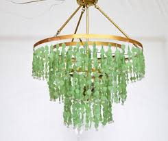 Sea Glass Chandelier Au Courant Interiors Coastal Beaded Chandeliers Casual Luxury