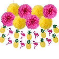 luau party multicolor 16pcs luau party supplies tissue paper pom poms