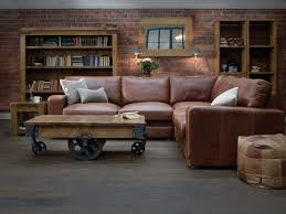 light brown leather corner sofa brown leather sofa with white cushions plus brown wooden carriage