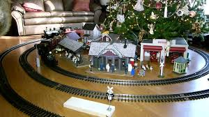 modern decoration trains for under christmas tree holiday