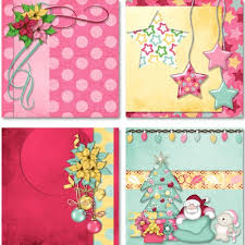 Decorated Paper Digital Scrapbooking Kits I Believe In Christmas Decorated