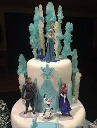frozen inspired birthday cake tint frosting rock
