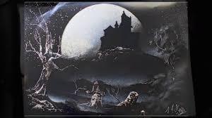 amazing spray painting halloween haunted house youtube