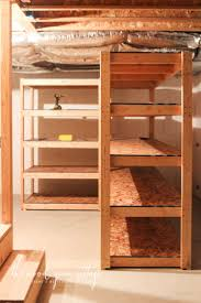 Basement Wooden Shelves Plans by The 25 Best Basement Shelving Ideas On Pinterest Basement