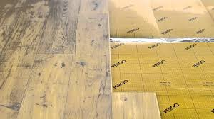 Underlay For Laminate On Concrete Floor Pergo Underlayment Hd Youtube