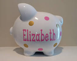 customized piggy bank custom piggy bank etsy