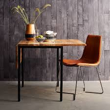 Leather Dining Room Furniture Slope Leather Dining Chair West Elm