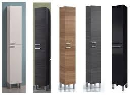 koncept tall narrow bathroom cupboard storage cabinet soft gloss