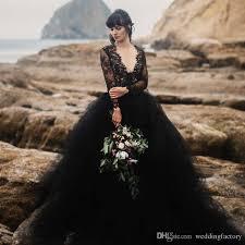black wedding dresses discount 2017 black wedding dress v neck illusion