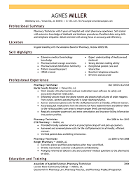 Technical Resume Summary Examples by Professional Hospital Pharmacy Technician Templates To Showcase