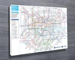 Underground Map London Underground Map Wall Art Canvas Prints Australia