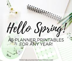 printable bullet journal planner free a5 planner printables for any year hello spring printables
