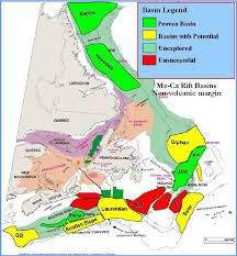 map east coast canada mesozoic east coast canada basins and their exploration ranking