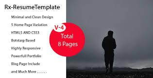 Bootstrap Resume Template Rx Resume Bootstrap Onepage Parallax Resume Template By Theme Village