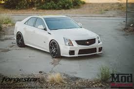 white cadillac cts black rims forgestar cf10 wheels cadillac cts v 19 20 black