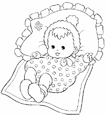 coloriage de bébé a imprimer liberate