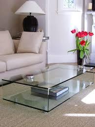 large glass coffee table large glass coffee tables glassdomain