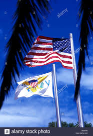 Us Virgin Island Flag Flags At Charlotte Amalie St Thomas Us Virgin Islands Caribbean