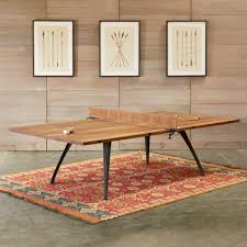 outdoor table tennis dining table this beautiful wood ping pong table does double duty as a dining table