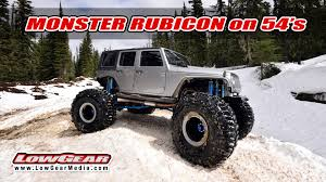 jeep wrangler snow tires monster jeep on 54