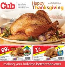 Cub Foods Hours Thanksgiving Foods Weekly Ad 11 17 13 11 30 13 Happy Thanksgiving Sale