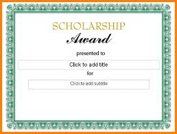 templates for scholarship awards 27 images of college scholarship award template infovia net