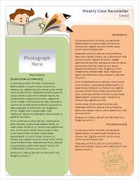 office newsletter weekly classroom newsletter template sample