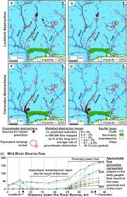 Wessex England Map by Groundwater Abstraction Impacts On River Flows Predictions From
